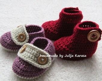 Crochet baby booties and shoes, handmade baby boots, baby booties crochet, baby shower gift, baby shoes crochet, newborn booty