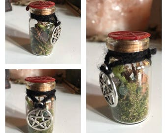 Witchbottle [bag forest - small] witch bottle / magic / witch / witch / altar / unique / handmade / Magick / Witchraft