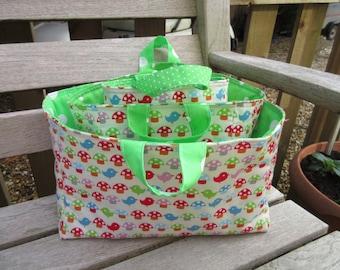 Nesting baskets, storage baskets fabric baskets