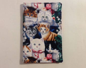 Notepad cover, fabric portfolio, list organizer, cat lover, teachers gift, back to school, office supplies