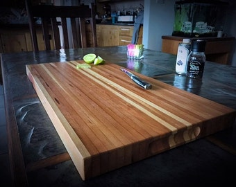 Longrain reclaimed mahogany cutting board