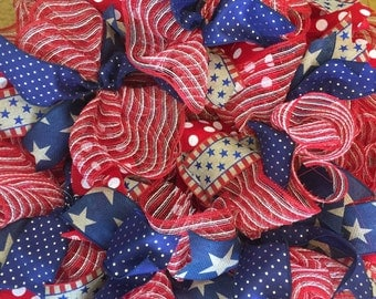 Red White and Blue Wreath, Patriotic Wreath