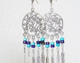 DREAM catcher earrings turquoise