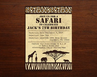 Safari Invitation