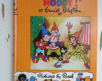 Well Done Noddy vintage children's book bedtime story elf Noddy Book 5 All Aboard for Toyland