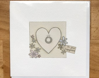 On you Engagement greeting card