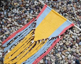 Woven Yarn Wall Tapestry