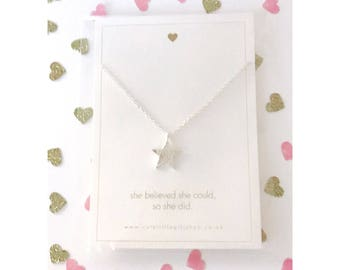 Shining Star Necklace - Silver
