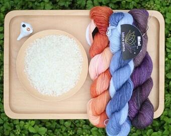 Lot 5,6,7,8,9,10 skein (50g/skein) handdyed mimi plus mink yarn, hand knitting yarn