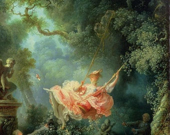Jean-Honoré Fragonard : The Swing (1767) Canvas Gallery Wrapped Wall Art Print
