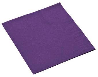 50-100 Purple Beverage Disposable Napkin, Wedding Napkins, Napkins, Beverage Napkins, Wedding, Party, Wedding Supplies, Party Supplies