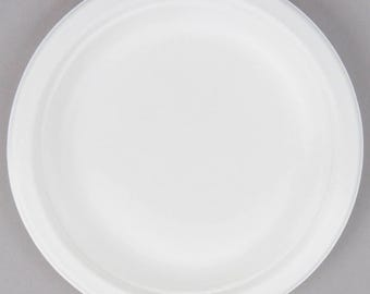 "25 count 6"" Sugarcane Compostable EcoChoice Biodegradable Plates, Paper Plates, Eco-Friendly, Plates, Tableware, Wedding, Party, Baby Shower"