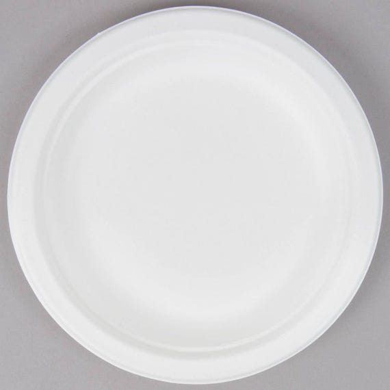 50 ct 6\  Sugarcane Compostable EcoChoice Biodegradable Plates Paper Plates Eco-Friendly Plates Tableware Wedding Party Baby Shower from ... & 50 ct 6\