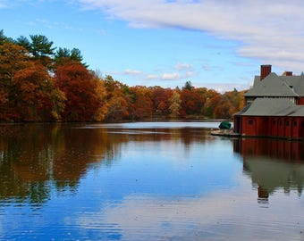Roger Williams Park, RI - Boat House Print