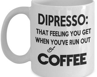depresso funny coffee mug