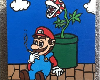 Hand Painted Box - Lazy Daze @ Mario Land