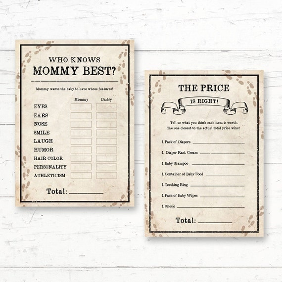 Harry Potter Baby Shower: Harry Potter Baby Shower Games Package 2 Games Who Knows