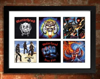 MOTORHEAD Albums Limited Edition Unframed Art Print Mini Poster
