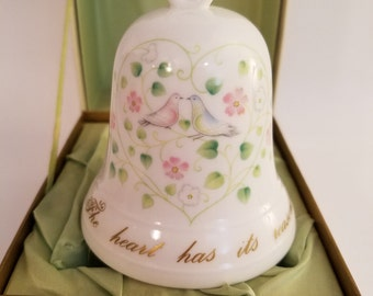 The Sweetheart Bell for Vincent Lippe by Noritake One of 10,000 Bone China Japan