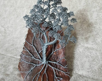 Custom hand made wire tree sculpture copper or steel