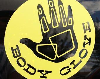 BODY GLOVE decal, sticker, custom made
