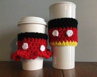 Mickey Inspired Coffe Cozy/Minnie Inspired Coffee Cozy/Disney Inspired Coffee Cozy/Coffee Cozy/Coffee sleeve