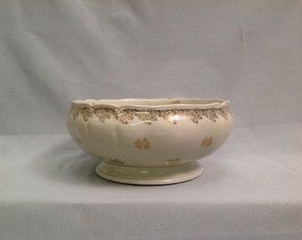Vintage Limoges Porcelain Saladiere, 1940's