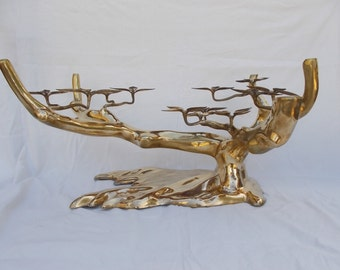 Bronze Bonsai tree coffee table by Willy Daro