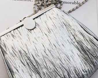 1950's La Regale Silver Evening Bag