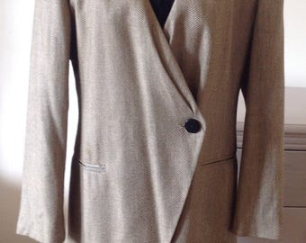 Classic 90s Christian Dior oversized shoulders working girl blazer size 12-14