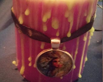 Purple and Green Goddess Candle