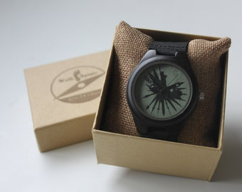 Black Bamboo Skyline Watch