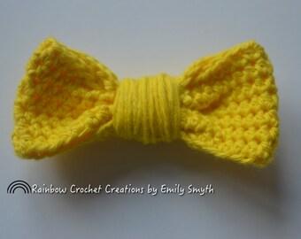 Colourful Hair Bows, hair clip, kids hair clip, hair bow clip, crochet bow, stocking filler, rainbow hair clip, hair accessory
