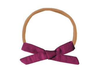 Schoolgirl Bow or Pigtail Set /// Plum