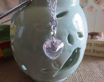 Beautiful Crystal Heart Necklace