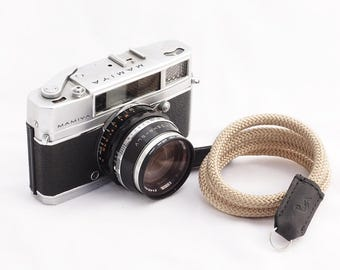 Camera strap made by climbing rope and leather for mirrorless/dslr/slr film/digital camera canon sony fuji nikon panasonic olympus