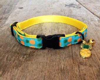 Pineapple cat collar - cute for summer