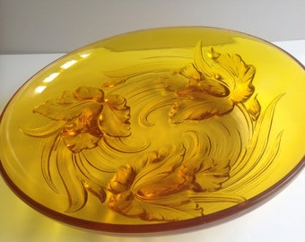 Verlys French vintage glass large bowl Lalique design period