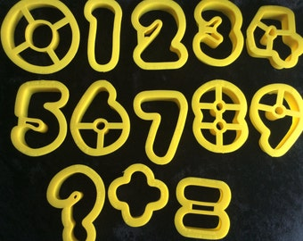 1980s Wilton Number Cookie Cutters