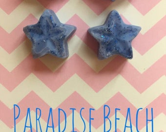 A pack of 4 Paradise Beach highly scented wax melts