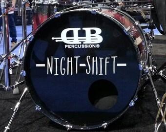 Bass Drum Graphics - Custom Drum Logo - Drum Band Logo