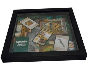 Cluedo Board Game Framed Upcycled Art - Colonel Mustard
