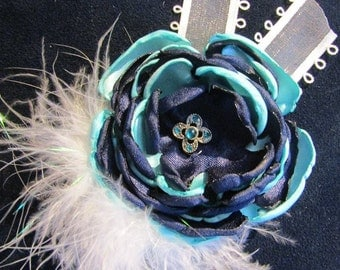 Custom Vintage Flower with Feathers