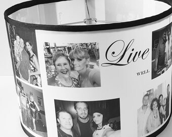 Portrait Lampshade l  Personalized Lamp Shade l  Customized Gifts l Family Photo Lamp Shade