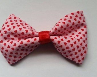 Red and pink Valentine's day cat bow!