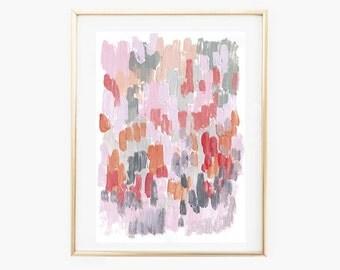 Bush Stroke Print,Abstract Art print,pink grey digital print,Instant Download printable art,fine Art abstract print,printable abstract