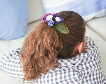 pasador para el pelo de flores violetas pasador con flores de nia adorno para