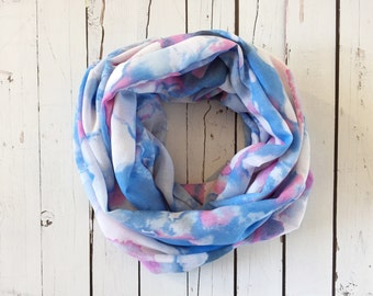 Adult infinity scarf - Watercolour
