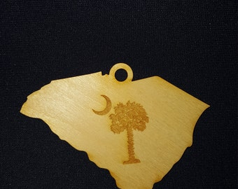 South Carolina palmetto tree and crescent state ornament