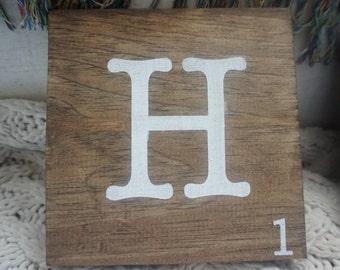 Individual Wooden Letters - Scrabble Letters - Home Decor - Wood Decor